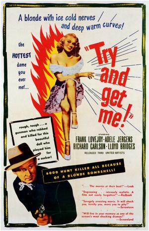 "Poster art for ""Try and Get Me."""