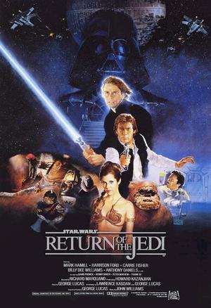 "Poster art for ""Star Wars Episode VI: Return of the Jedi."""