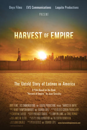 "Poster art for ""Harvest of Empire."""