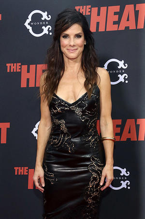 "Sandra Bullock at ""The Heat"" N.Y. premiere."