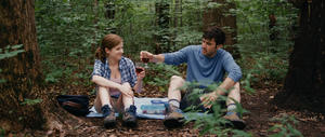 "Anna Kendrick and Ron Livingston in ""Drinking Buddies."""