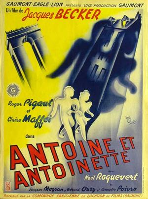 """Poster art for """"Antoine et Antoinette."""""""