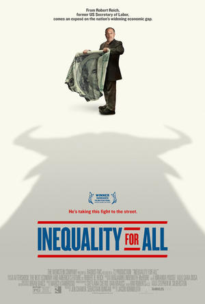 "Poster art for ""Inequality for All."""