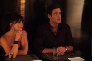 "Jennifer Love Hewitt as Alison Marks and Ivan Sergei as Christian O'Connell in ""Jewtopia."""
