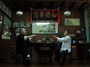 "Anthony Wong and Eric Tsang in ""IP Man: The Final Fight."""