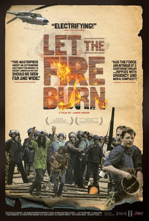"Poster art for ""Let the Fire Burn."""