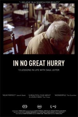 "Poster art for ""In No Great Hurry: 13 Lessons in Life with Saul Leiter."""