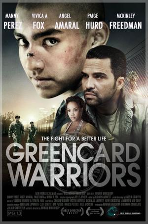 "Poster art for ""Greencard Warriors."""