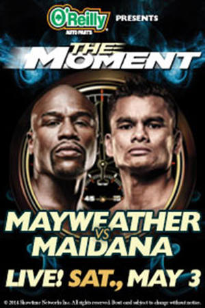 "Poster art for ""Mayweather vs Maidana"""