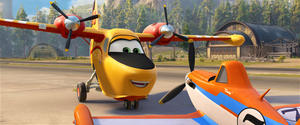 "Dipper and Dusty in ""Planes: Fire & Rescue."""