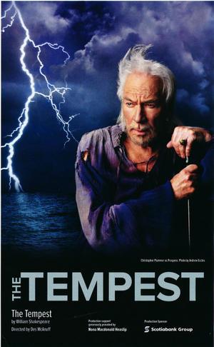 """Poster art for """"The Tempest Starring Christopher Plummer."""""""