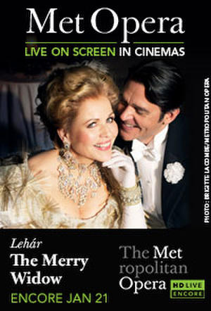 "Poster art for ""The Metropolitan Opera: The Merry Widow Encore."""