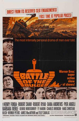 "Poster art for ""Battle of the Bulge."""