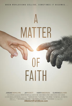 "Poster art for ""A Matter of Faith."""