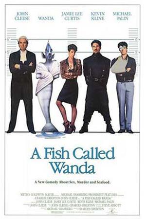"Poster art for ""A Fish Called Wanda."""