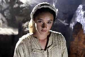 "Keisha Castle-Hughes as Mary in ""The Nativity Story."""