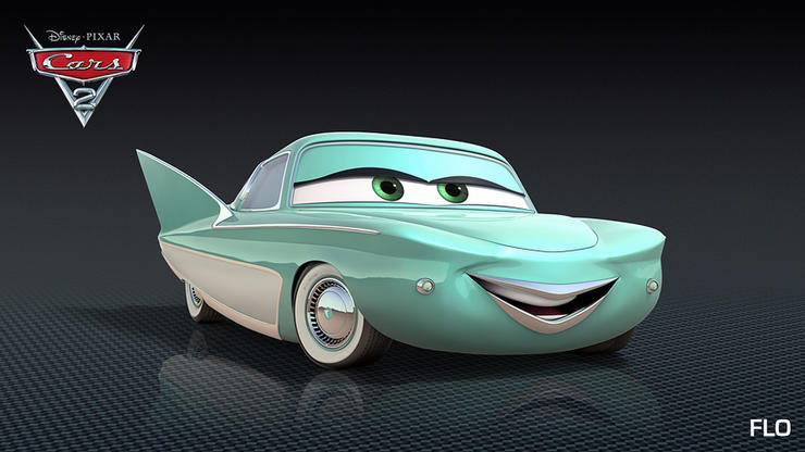 cars 2, disney, movie poster, flo, disney movies, pixar