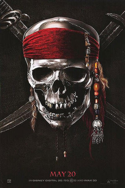 pirates of the caribbean 4 on stranger tides  movie poster