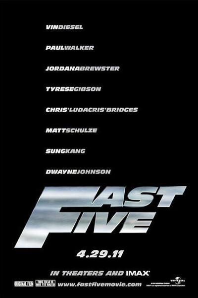 Fast Five Vin Diesel Paul Walker Movie Poster