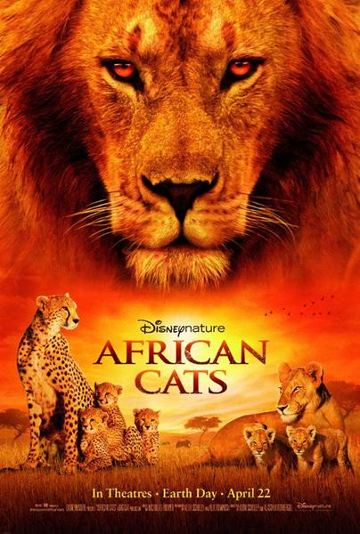 African Cats movie poster Disney