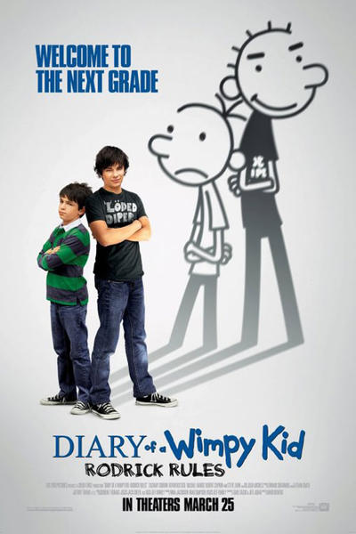 diary of a wimpy kid 2, rodrick rules, movie poster, wallpaper