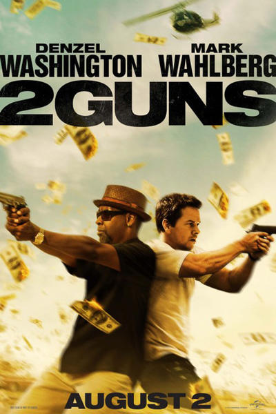 two guns41f Box Office Report: Denzel & Wahlberg Gun Down Smurfs, While George Clooney Takes a Few Shots at Sony