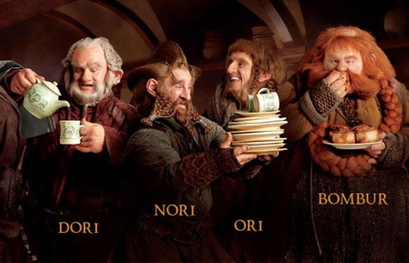A Guide to The Hobbit's Dwarves, As Described by Your Completely Uninterested Grandpa...
