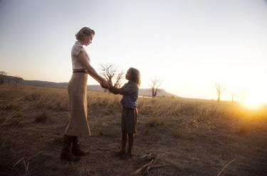"Nicole Kidman as Sarah and Brandon Walters as Nullah in ""Australia."""