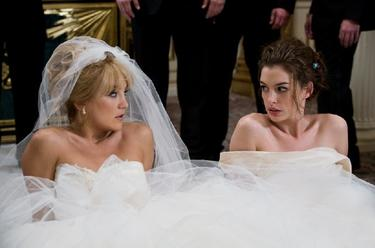 "Kate Hudson as Liv and Anne Hathaway as Emma in ""Bride Wars."""