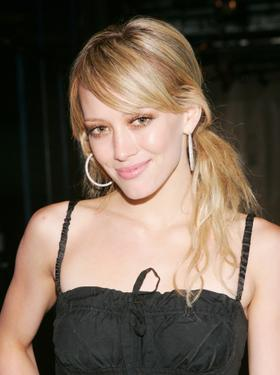Hilary Duff at the MTV's Total Request Live.