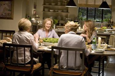 "Mary Kay Place as Joanne, Meryl Streep as Jane, Alexandra Wentworth as Diane and Rita Wilson as Trisha in ""It's Complicated."""