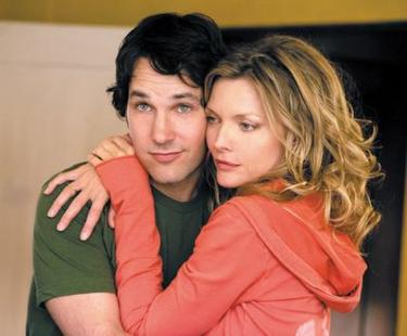 "Paul Rudd and Michelle Pfeiffer in ""I Could Never be Your Woman."""