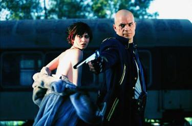 Olga Kurylenko and Timothy Olyphant in &quot;Hitman.&quot;