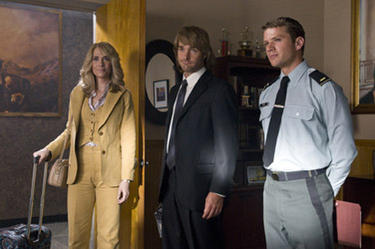 "Kristen Wiig, Will Forte and Ryan Phillippe in ""MacGruber."""