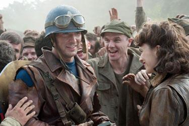"""Chris Evans in """"The First Avenger: Captain America."""""""