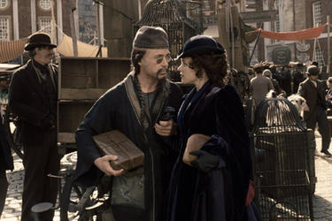 "Robert Downey Jr. and Rachel McAdams in ""Sherlock Holmes: A Game of Shadows."""