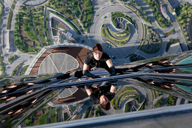 "Tom Cruise as Ethan Hunt in ""Mission: Impossible - Ghost Protocol."""