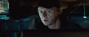 "Simon Pegg in ""Mission: Impossible - Ghost Protocol."""