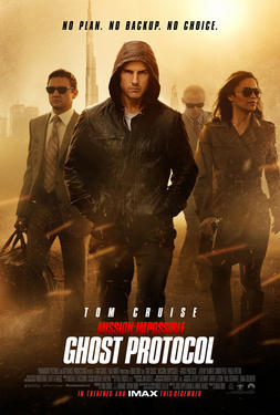 "Poster art for ""Mission: Impossible - Ghost Protocol."""