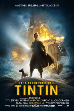 "Poster art for ""The Adventure of Tintin."""