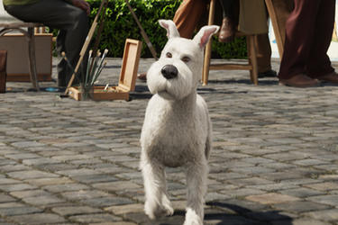 Snowy in ``The Adventures of Tintin.''