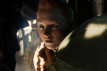 Tintin in ``The Adventures of Tintin.''