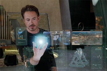 "Robert Downey Jr. as Tony Stark in ""The Avengers."""