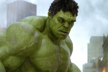 "Mark Ruffalo as The Incredible Hulk in ""The Avengers."""