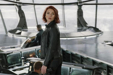 "Scarlett Johansson as Natasha Romanova/Black Widow in ""The Avengers."""