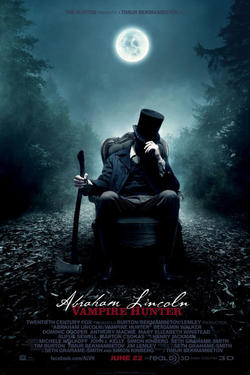 "Poster art for ""Abraham Lincoln: Vampire Hunter."""