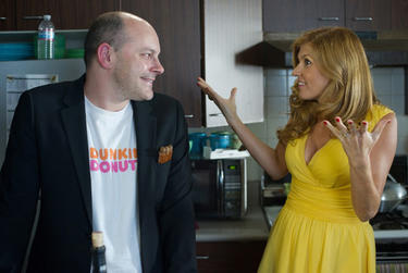 "Rob Corddry as Warren and Connie Britton as Diane in ""Seeking a Friend for the End of the World."""