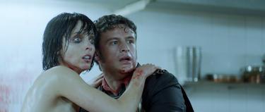 "Leticia Dolera and Diego Martin in ""[REC] 3: Genesis."""