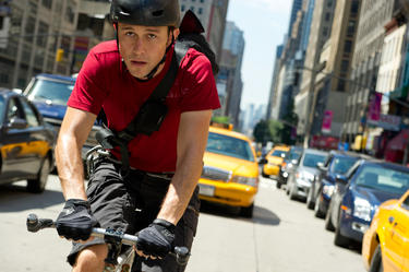 "Joseph Gordon Levitt in ""Premium Rush."""