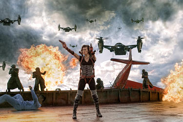 "Milla Jovovich as Alice in ""Resident Evil: Retribution."""